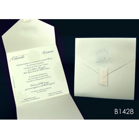 Invitación de boda caqui