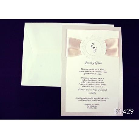 Invitación de boda naranjo chino