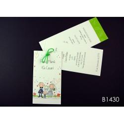 Invitación de boda acacia forrajera