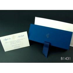 Invitación de boda lilly pilly azul