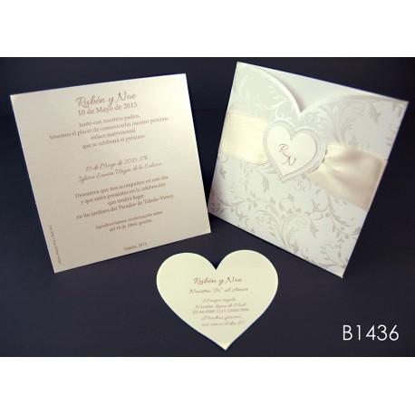 Invitación de boda luffa