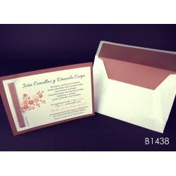 Invitación de boda macadamia