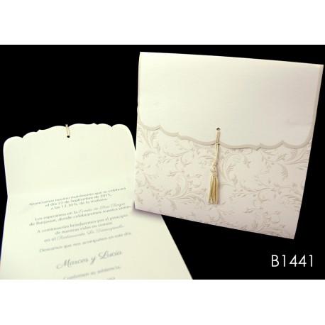 Invitación de boda mamey