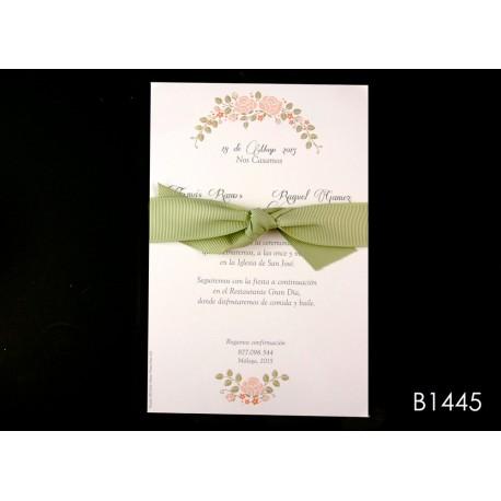 Invitación de boda melocotón de los trópicos