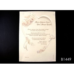 Invitación de boda marula