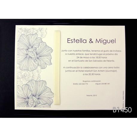 Invitación de boda melinjo