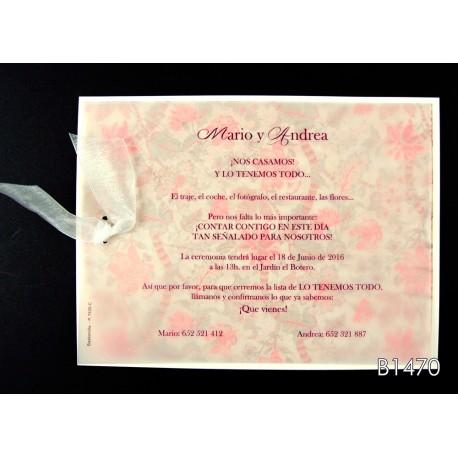 Invitación de boda nuez de brasil