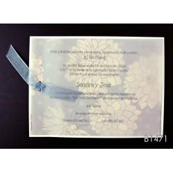 Invitación de boda nuez moscada
