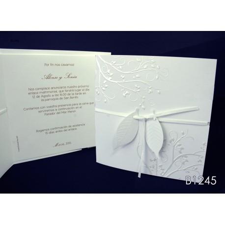 Invitación de boda pepino dulce