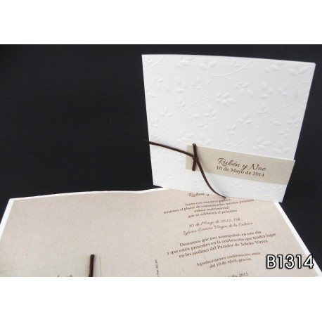 Invitación de boda pitanga