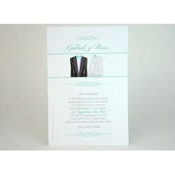 Invitación de boda rosa lisérgica
