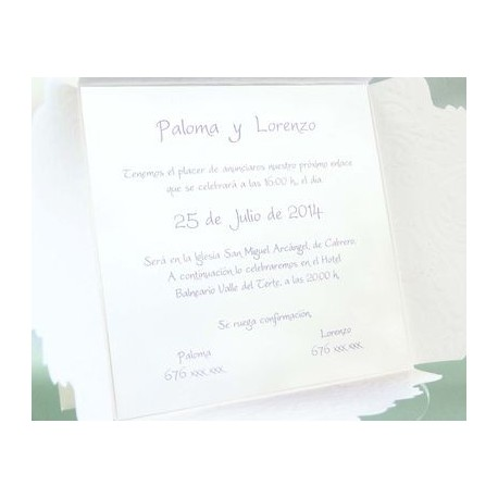 Invitación de boda curuba