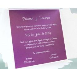 Invitación de boda uva caimarona