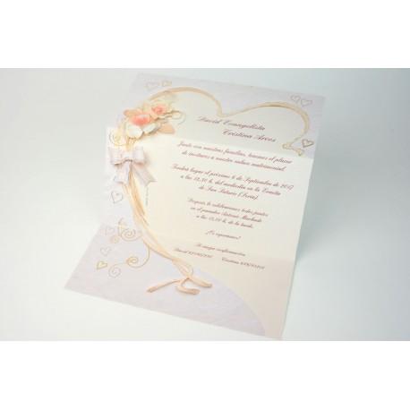 Invitación de boda uva de playa