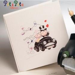 Invitación de boda PityPita coche