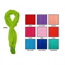 Foulard de rayas con flecos 165x35 cm