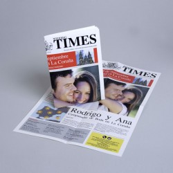 Invitación de boda periodico - The Times -