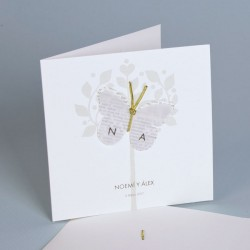 Invitación de boda mariposa portada