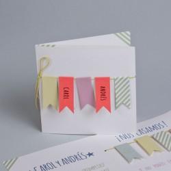 Invitación de boda tendedero nombres