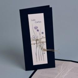 Invitación de boda Ginza pita oscura