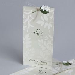 Invitación de boda ramas flores