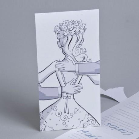 Invitación de boda novia y novio