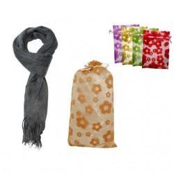 Bufanda de pelo de mujer mas bolsa tull flores 8536