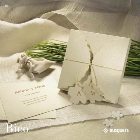 Invitación de boda Bico
