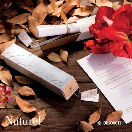 Invitación de boda Naturel