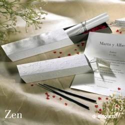 Invitación de boda Zen