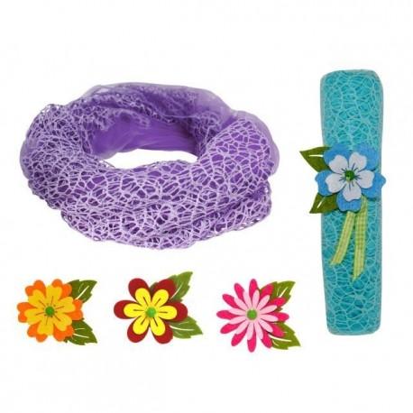 pañuelo cuello rejilla + flor fieltro recto (8500)