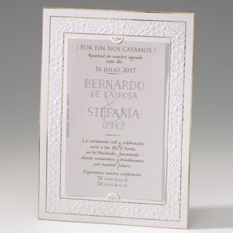 Invitación de boda marco elegante