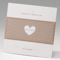 Invitación de boda corazón troquel craft