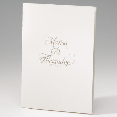 Invitación de boda nombres portada