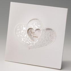 Invitación de boda corazon dentro de corazones