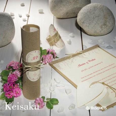 Invitación de boda Keisaku