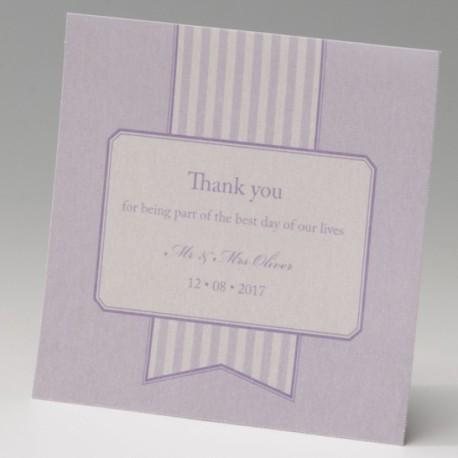 Tarjeta complemento invitción de boda lazo malva