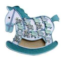 Expositor caballo azul