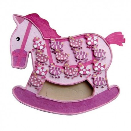 Expositor caballo rosa