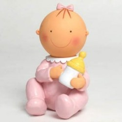 Figura de tarta hucha Pita sentada biberón