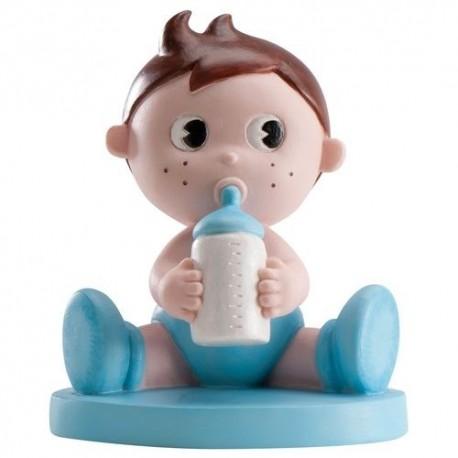 Figura de tarta bautizo biberón niño