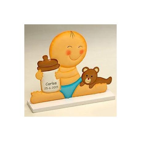 Figura de tarta metal Pit biberón