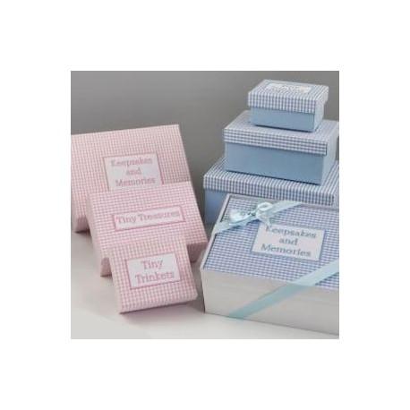 Set 3 cajas vichy rosa