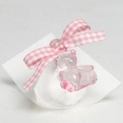Estuche osita rosa cinta vichy