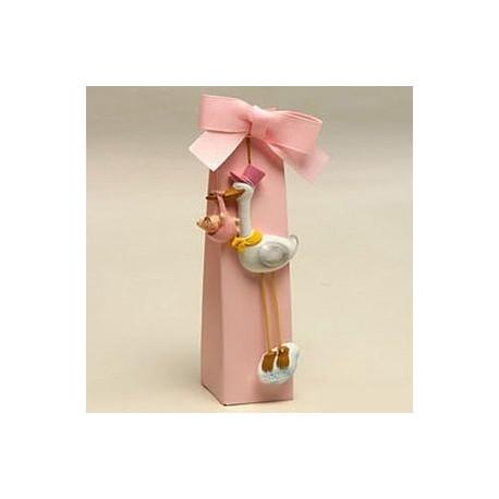 Imán Pita cigüeña gorro rosa + estuche 5 peladillas