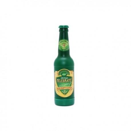 Cañón confetis dorado botella de cerveza