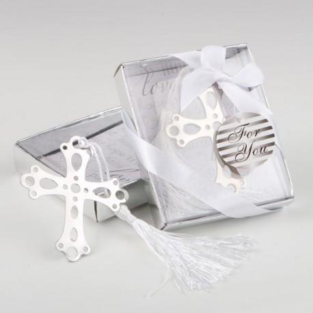 Marca páginas cruz en caja regalo