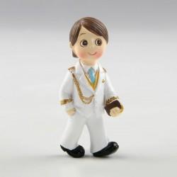 Imán con anilla comunión niño almirante blanco