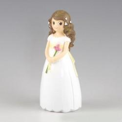 Figura para pastel niña comunión con lirio