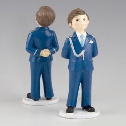 Figura para pastel comunión almirante azul